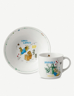 WEDGWOOD Peter Rabbit two-piece set