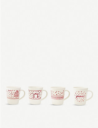 ROYAL DOULTON: Holiday Mugs (Set of 4) - Ellen DeGeneres
