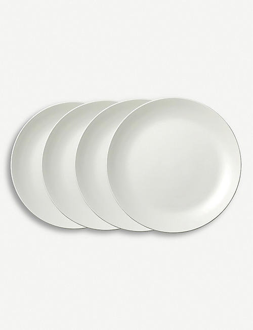 VERA WANG @ WEDGWOOD: Vera Wang Perfect White set of four dinner plates