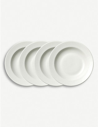 VERA WANG @ WEDGWOOD: Perfect White soup plate set of four