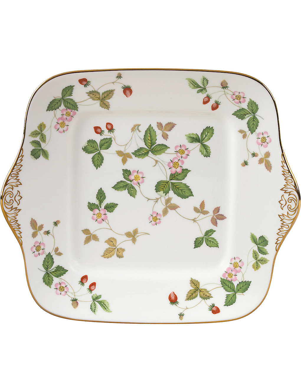 WEDGWOOD: Wild strawberry bread and butter plate