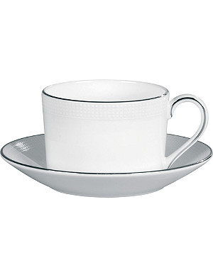 VERA WANG @ WEDGWOOD Vera Wang x Wedgwood Blanc sur Blanc bone china tea saucer 14cm