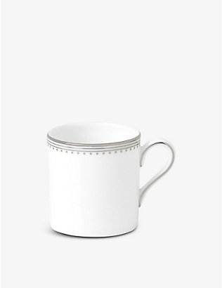 VERA WANG @ WEDGWOOD: Grosgrain platinum-bonded fine bone-china espresso cup 80ml