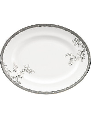 VERA WANG @ WEDGWOOD: Lace Platinum small oval dish