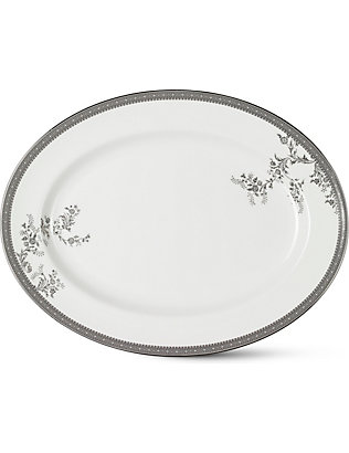 VERA WANG @ WEDGWOOD: Lace Platinum large oval dish