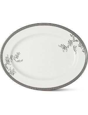 VERA WANG @ WEDGWOOD Lace Platinum large oval dish