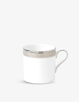 VERA WANG @ WEDGWOOD: Lace platinum-bond porcelain coffee cup 80ml