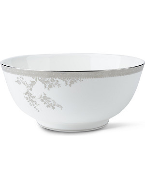 VERA WANG @ WEDGWOOD Lace Platinum bowl 25cm