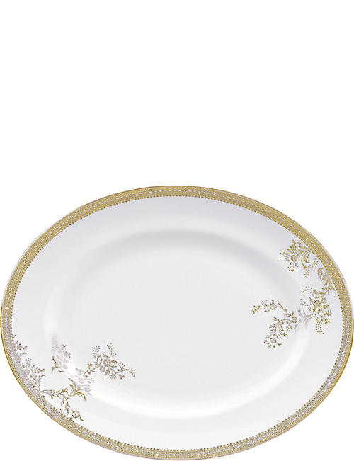 VERA WANG @ WEDGWOOD: Lace Gold small oval dish 35cm x 27cm