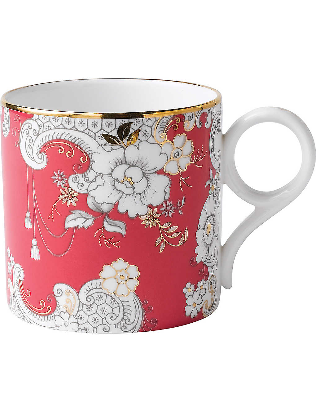 WEDGWOOD: Archive Collection pink rococo mug