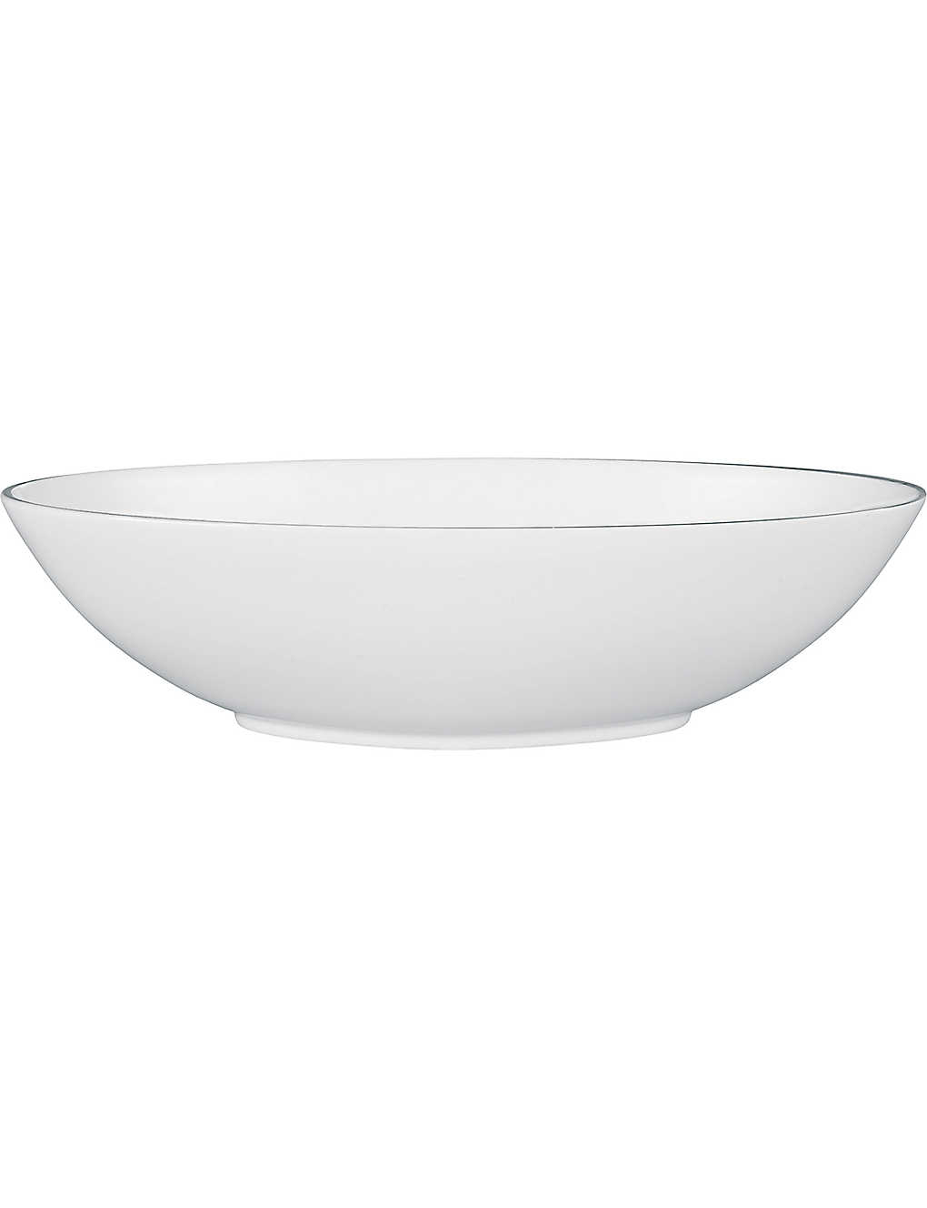 JASPER CONRAN @ WEDGWOOD: Platinum serving oval bowl