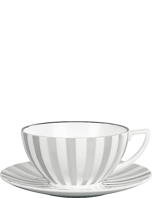 JASPER CONRAN @ WEDGWOOD: Platinum Striped tea saucer