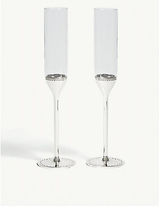 VERA WANG @ WEDGWOOD: Grosgrain toasting flutes set of two