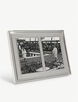 VERA WANG @ WEDGWOOD: Grosgrain double invitation photo frame 13x18cm