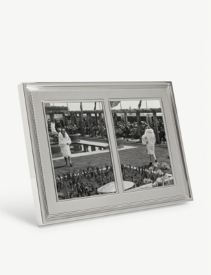 VERA WANG @ WEDGWOOD Grosgrain double invitation photo frame 13x18cm
