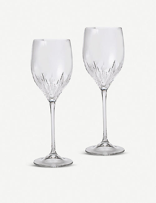 VERA WANG @ WEDGWOOD: Duchesse crystal wine glasses set of two
