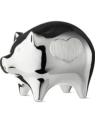 VERA WANG @ WEDGWOOD: Silver-plated baby piggy bank