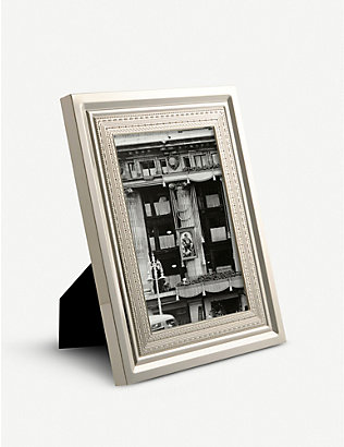 VERA WANG @ WEDGWOOD: With Love silver-plated photo frame 10.16cm x 15.24cm