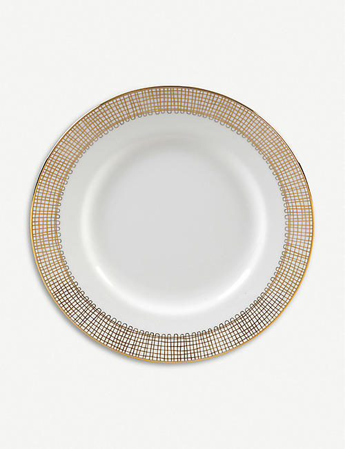 WEDGWOOD Vera Wang Gilded Weave porcelain plate 15cm