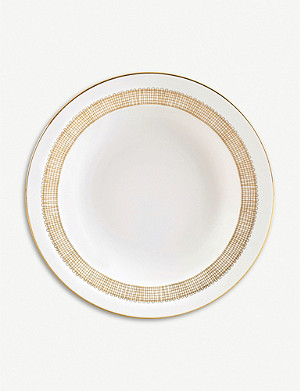 VERA WANG @ WEDGWOOD Gilded Weave soup plate 25.7cm