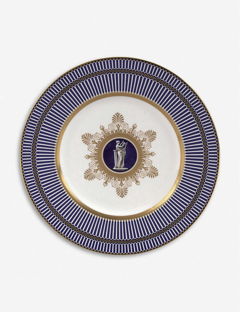 WEDGWOOD: Anthemion Blue Plate 23cm