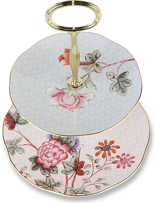WEDGWOOD Cuckoo two-tier cake stand