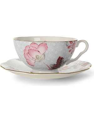 WEDGWOOD Cuckoo teacup and saucer blue