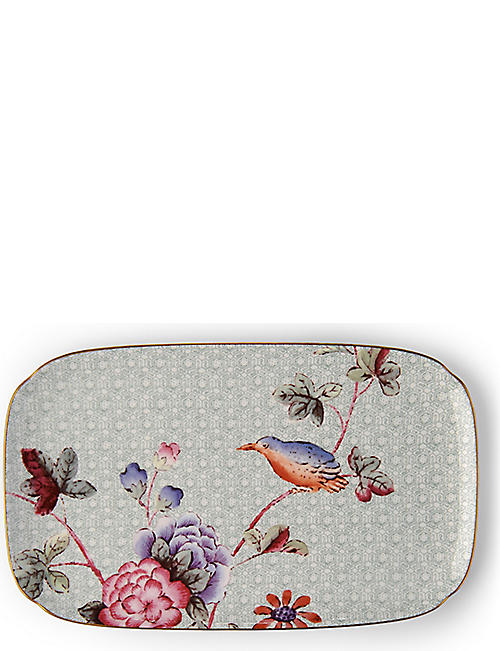 WEDGWOOD: Cuckoo fine bone china sandwich tray 25cm x 15cm