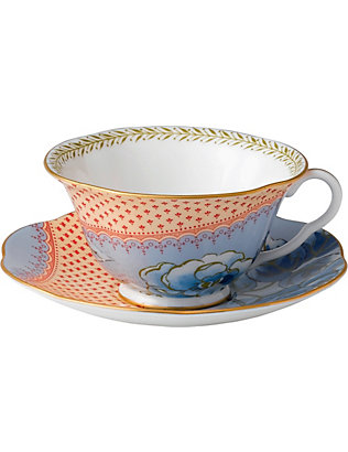 WEDGWOOD: Butterfly Bloom cup and saucer