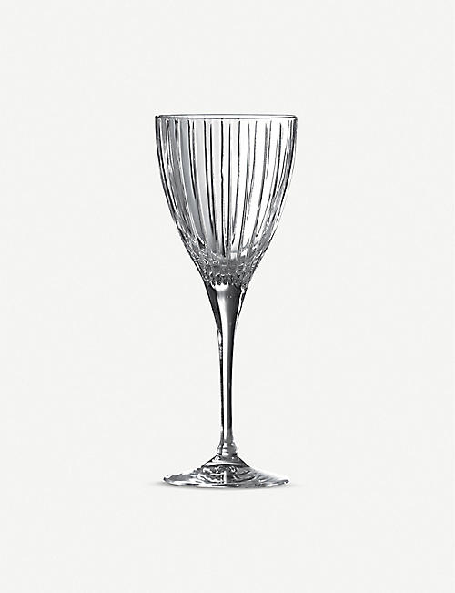 ROYAL DOULTON: Linear wine glasses set of six