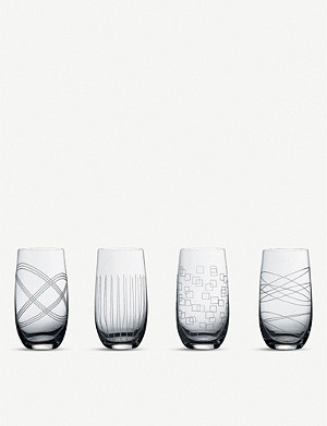 WATERFORD Party crystal highball glasses set of four