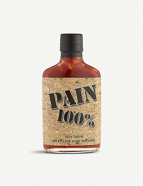 HOT SAUCES: Pain 100% hot sauce 210g