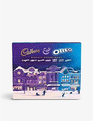 CHRISTMAS: Cadbury's and Oreo chocolate biscuit assortment 502g