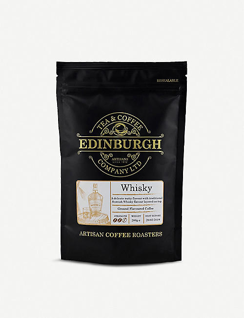 EDINBURGH TEA & COFFEE: Whisky ground coffee 200g