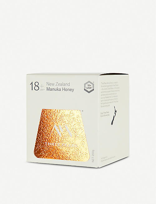 THREE PEAKS MANUKA HONEY Manuka honey UMF 18+ 200g