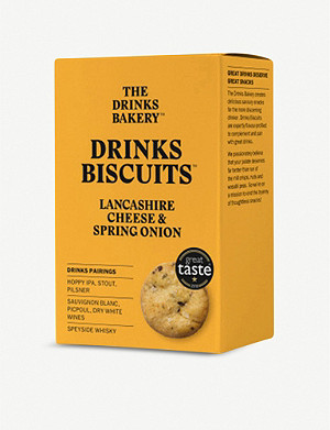 THE DRINKS BAKERY Lancashire cheese & onion biscuits 110g