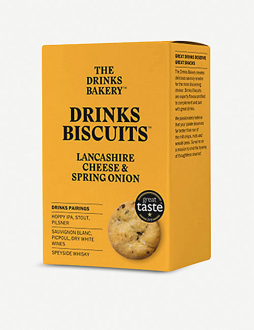 THE DRINKS BAKERY: Lancashire cheese & onion biscuits 110g