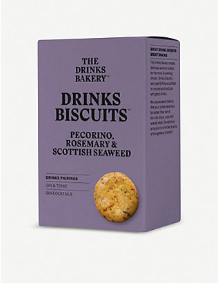 THE DRINKS BAKERY: Pecorino, rosemary & seaweed biscuits 110g