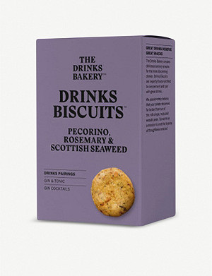 THE DRINKS BAKERY Pecorino, rosemary & seaweed biscuits 110g