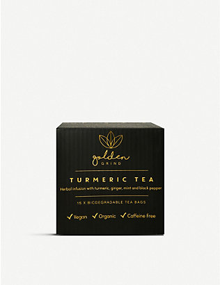GOLDEN GRIND: Turmeric tea bags pack of 15