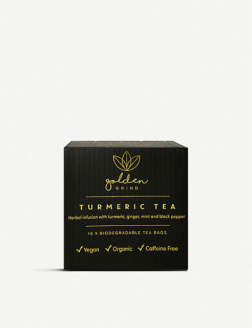 GOLDEN GRIND Turmeric tea bags pack of 15