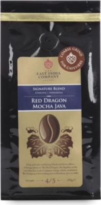 THE EAST INDIA COMPANY Red Dragon Mocha Java cafetiere grind 250g