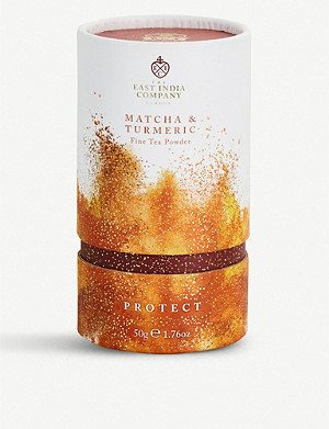 THE EAST INDIA COMPANY Protect matcha and turmeric tea powder 50g