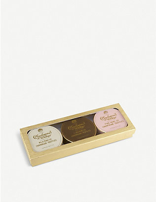 CHARBONNEL ET WALKER: Marc de Champagne milk, dark and pink chocolate truffles gift set 132g
