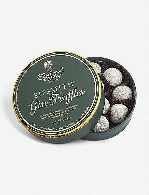 CHARBONNEL ET WALKER: Sipsmith gin dark chocolate truffles 110g