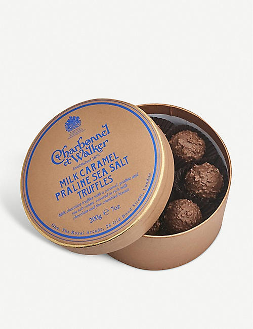 CHARBONNEL ET WALKER: Milk chocolate sea salt pralines 200g