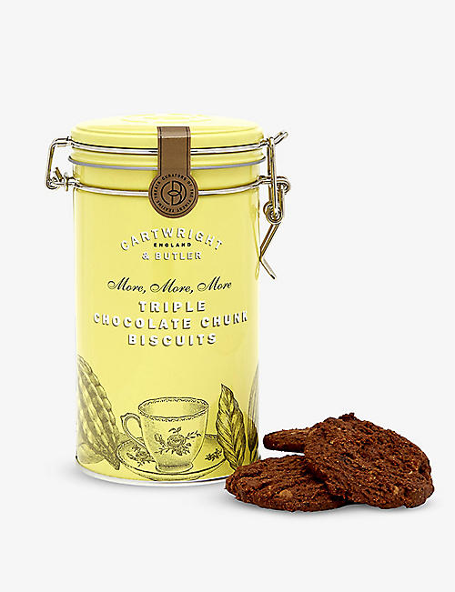 CARTWRIGHT & BUTLER Triple chocolate chunk biscuits 200g