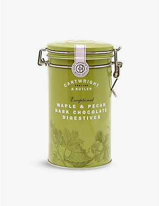 CARTWRIGHT & BUTLER: Dark chocolate, maple and pecan digestive biscuits 200g