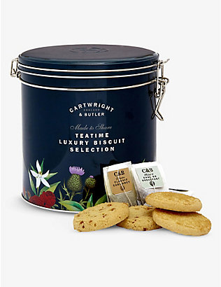 CARTWRIGHT & BUTLER: Tea Time Selection biscuit and tea barrel 58g