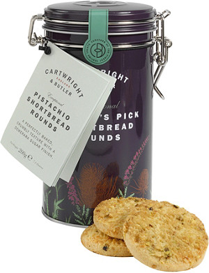 CARTWRIGHT & BUTLER Pistachio & chocolate shortbread 200g